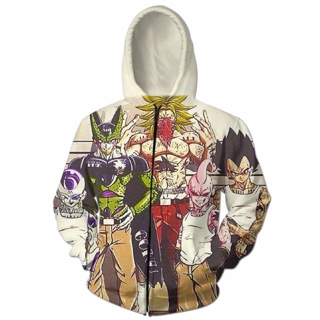 Dragon Ball Badass Gang Zipper Hoodie