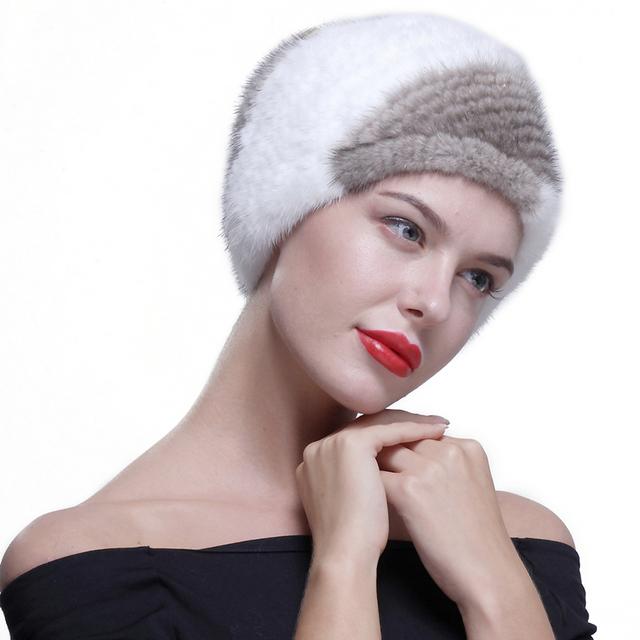 Ursfur invierno bufanda de piel de visón capucha mujeres diadema multicolor de invierno nueva piel de visón bufanda del silenciador anillo ruso elástico necker jefe