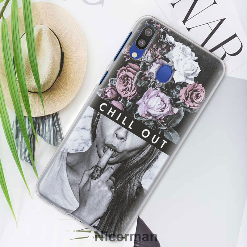 Like A Boss Sexy Ass Girl Dollars Cases cover for Samsung Galaxy A30 A50 A70 A80 M10 M30 A7 A6 A8 A9 2018 PC Hard Phone Case in Half wrapped Cases from Cellphones Telecommunications