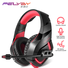 Dual 3.5 + USB Lights K1B New 7.1 Surround Sound Stereo Game Headset Bass Microphone Audio Adapter Sound Card Vibration