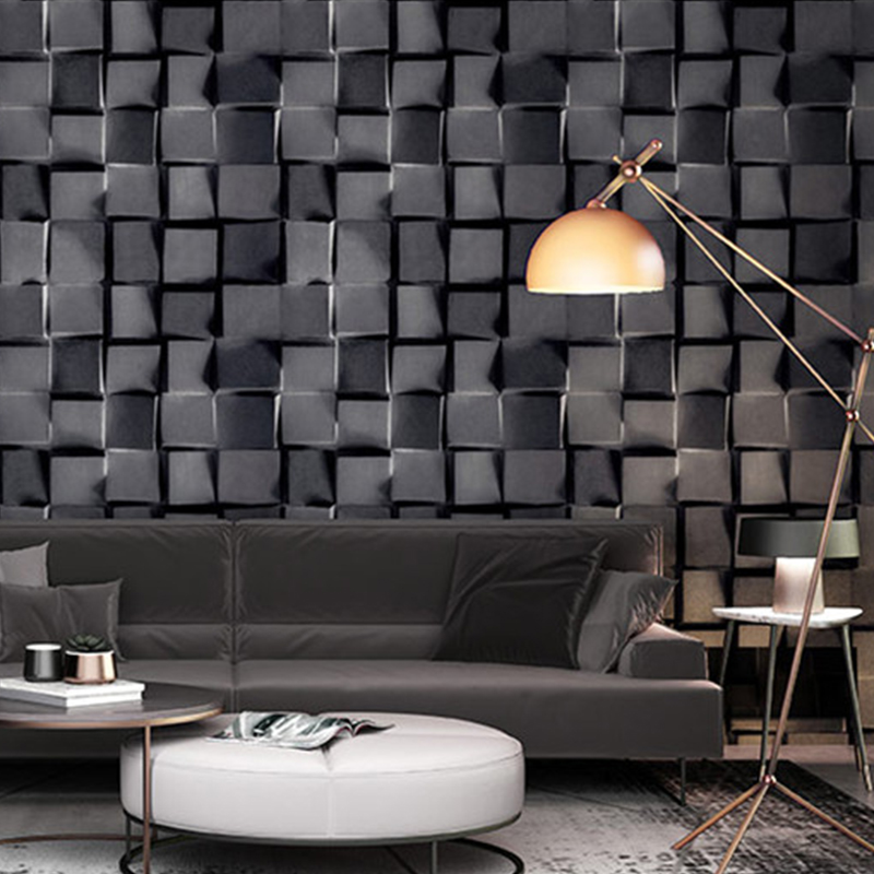 3D Abstract Black White Grey Lattice Wallpaper Modern Fashion Restaurant Clothing Store Background Wall Paper Roll For Walls 3 D