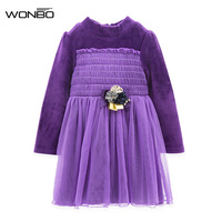 Flower Girl Dresses Princess Infant Pink Red Purple Kids Lace Dress Children Costume Clothes For Girls