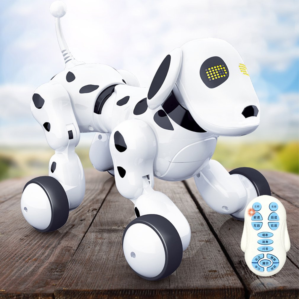 Interactif 2.4G télécommande sans fil Intelligent Robot chien enfants jouet Intelligent parlant Robot chien jouet électronique Pet cadeau d'anniversaire