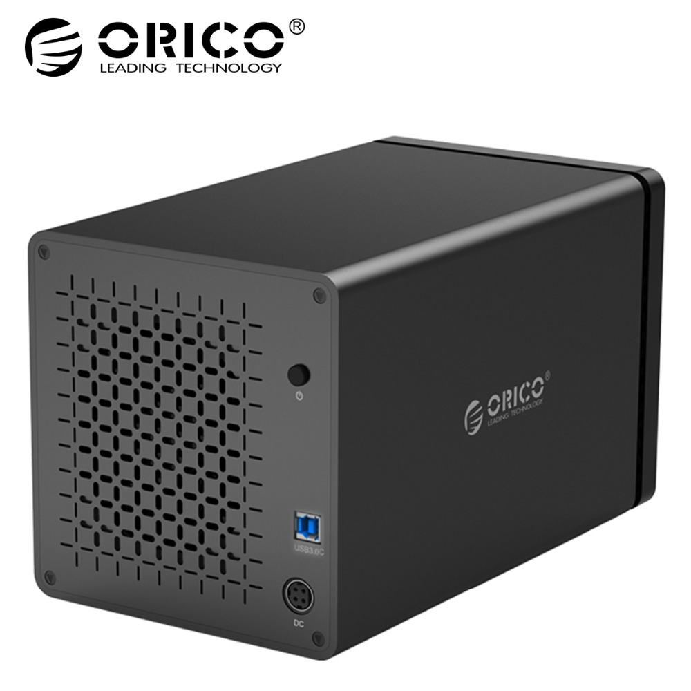 цена на ORICO Tool Free USB3.0 to SATA 5-Bay USB 3.0 5Gbps Hard Drive Docking Station with 12V 6.5A Power Adapter Support UASP HDD Case