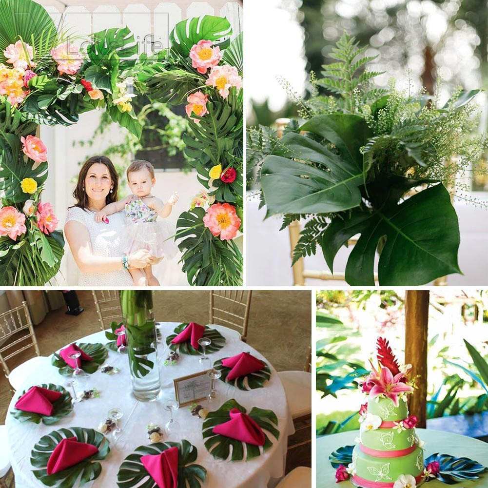 Tropical decorations for party wedding decor for Decoration jardin tropical