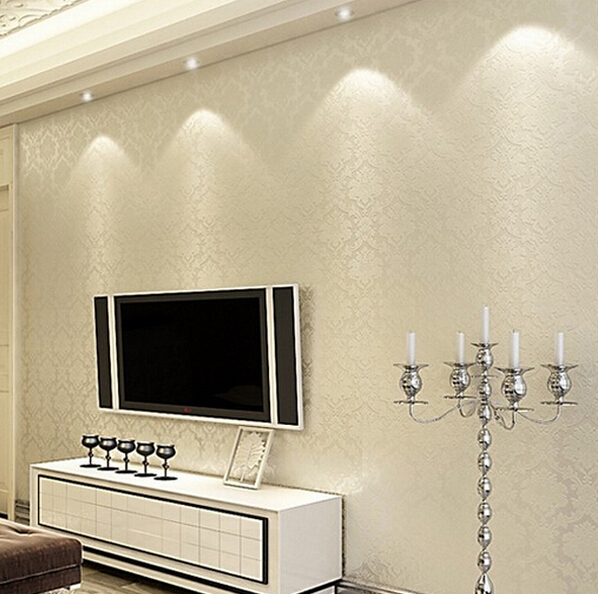 Textured damask wallpaper promotion shop for promotional for Papel de pared dormitorio