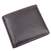J.M.D Cow Leather Fashion Card Holder Wallet Simple Casual Design Mens Two Folds Short 8155-3C