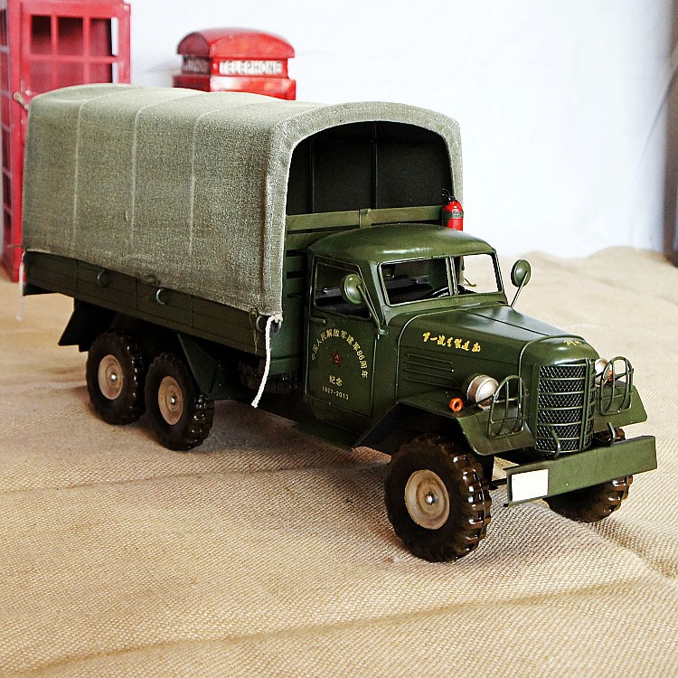 New handmade Chinese characteristics Liberation brand transport truck model metal ornaments SMT287 home decorations in Figurines Miniatures from Home Garden