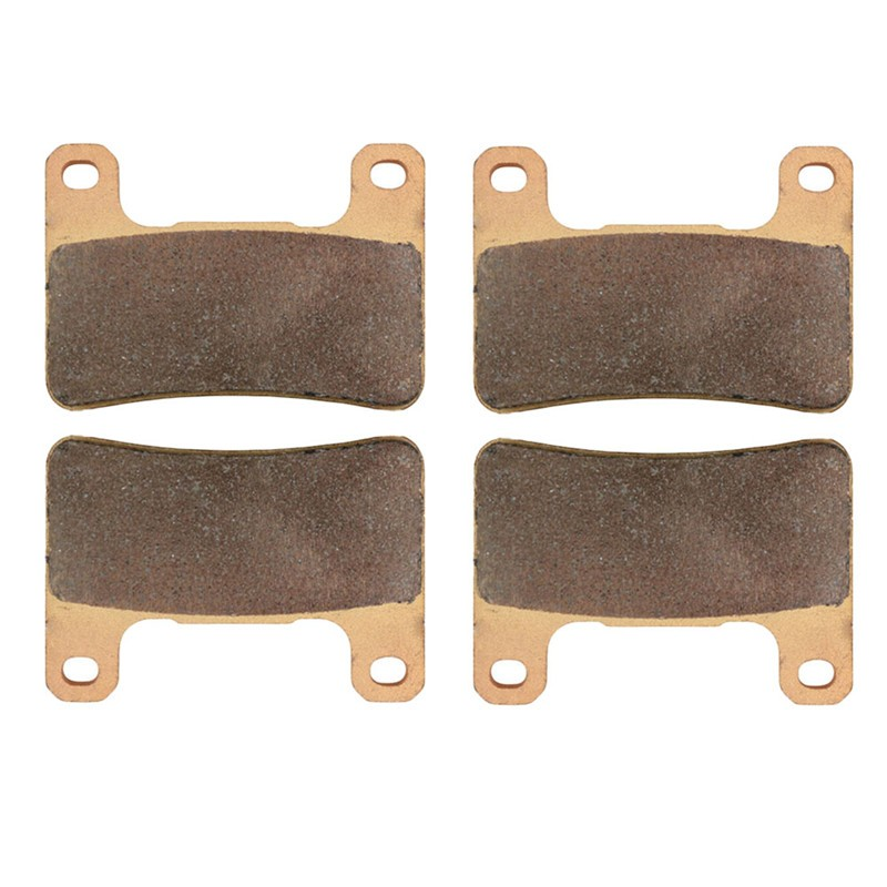 2 Pairs Motorcycle Brake Pads for KAWASAKI ZX10 R (ZX 1000 E/F/J/K) 2008-2014 Sintered Brake Disc Pad 2 pairs motorcycle brake pads for yamaha fzr 750 fzr750 genesis 1987 1988 sintered brake disc pad