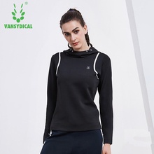Dry Quick Yoga Gym Top Compression Women's Sport hooded T-Shirts Running Long Sleeve T-Shirts Fitness Women Yoga Tops