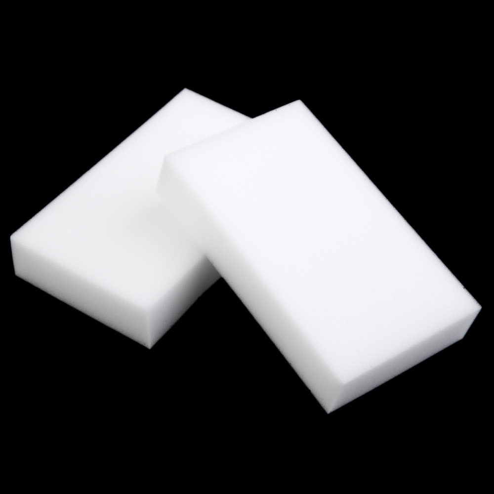 100 pcs/lot Wholesale White Magic Sponge Eraser Melamine Cleaner,multi-functional Cleaning 100x60x10mm цена
