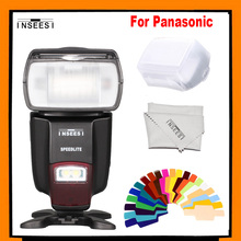 Inseesi in560iv in-560iv universal para panasonic flash speedlight speedlite g10gk gh2gk gh1gk g2gk g1gk gf2gk gf1gk dslr cámara