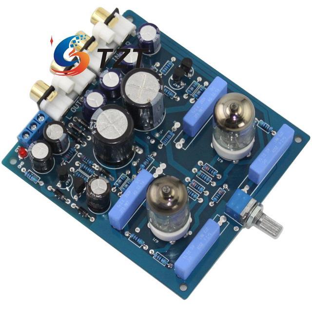 Ламповый предусилитель HIFI Аудио Усилитель Доска AC12V-0-AC12V 15 Вт Модуль 6J1 Вакуумная Трубка