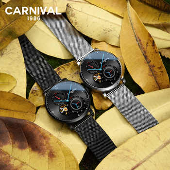 Carnival Black Automatic Watch Men Waterproof Mechanical Watches Top Brand Luxury Mens Clock Man Wristwatch montre homme xfcs - DISCOUNT ITEM  55 OFF Watches
