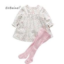 E&Bainel Baby Girl Clothing 0-12M Spring Autumn Baby Girl Dress Fl
