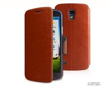 2014 Ultra thin leather bracket case for Samsung GALAXY S4 Active i9295 best free shipping original