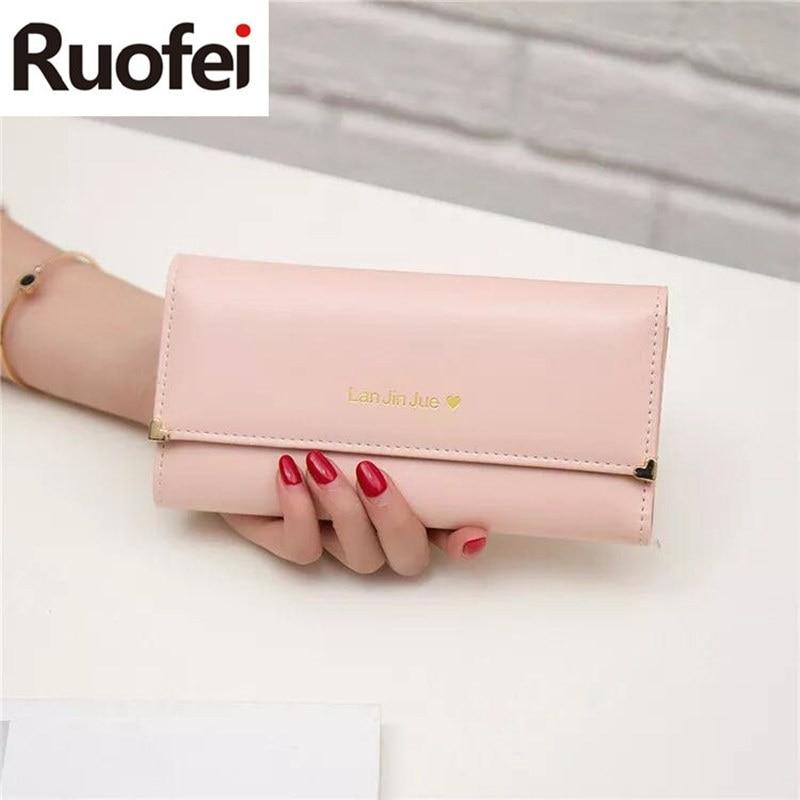 2017 Best RUO FEI Deal Fashion Handbags Lady Women Wallets Bag Popular Purse Long PU Handbags Card Holder Birthday Bags