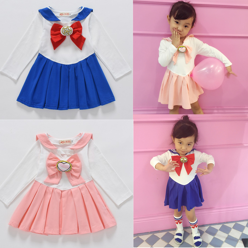 Marin lune Anime enfant filles Cosplay Costumes Bowknot robe uniforme