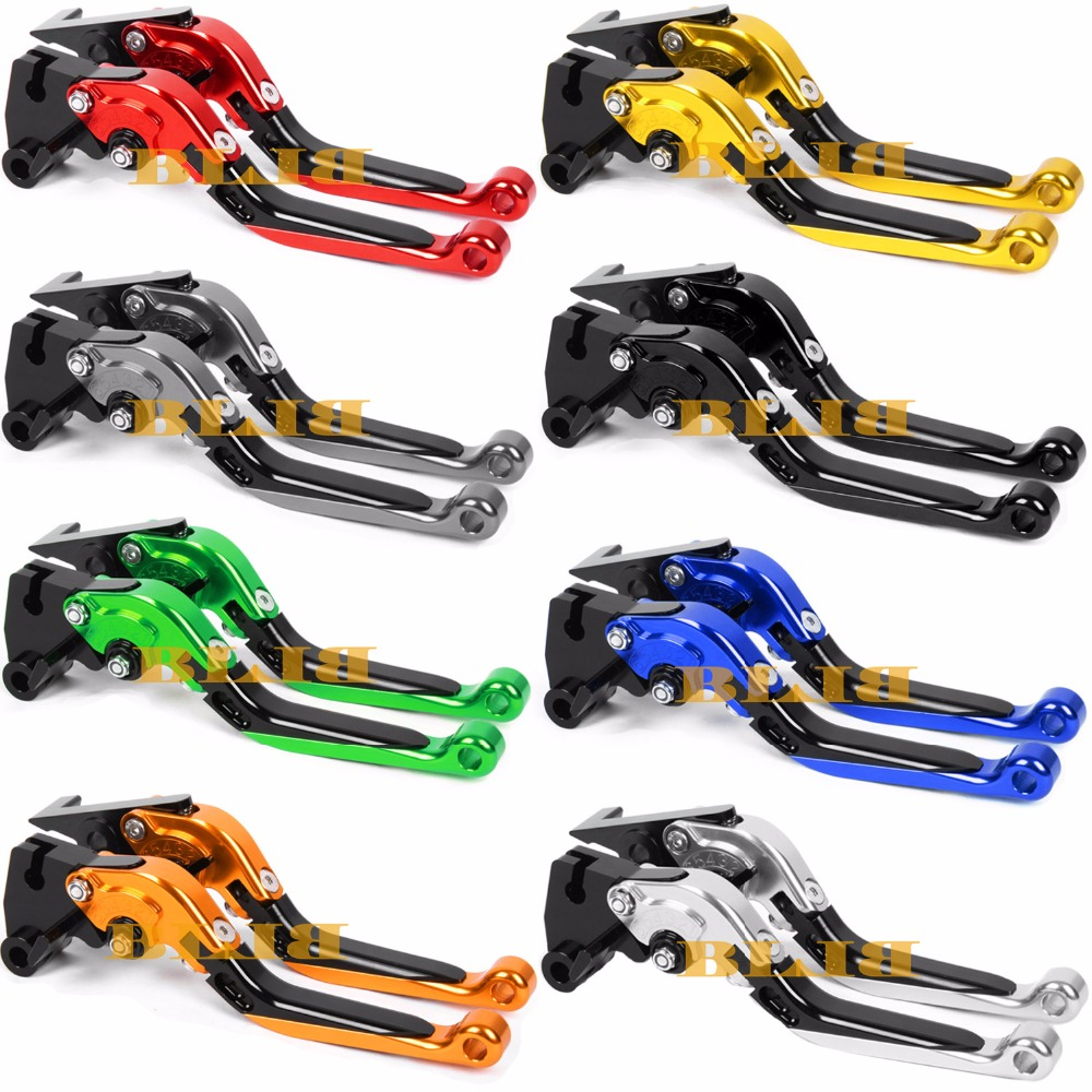 For Suzuki GSXR1000 GSXR 600 750 GSX S1000 F ABS CNC Motorcycle Foldable Extending Brake Clutch Levers And Moto 170mm Lever bjmoto motorcycle thumb wheel roller adjuster cnc short brake clutch lever for suzuki gsxr600 gsxr750 gsxr1000 gsx s1000 f abs