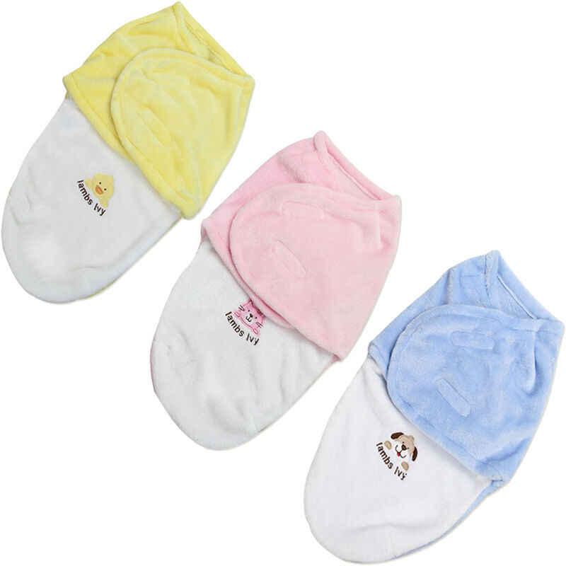 2019 Do Bebê Sacos de Dormir Bebê Recém-nascido Casulo Swaddle Envoltório Envelope Sleebag 0-3 Meses Do Bebê Cobertor Swaddling Envoltório Outono verão