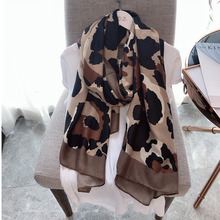 Women Quality Female autumn and winter  leopard Viscose hand touch Women Shawl Scarf Muslim Hijab long shawl Snood 180*90cm все цены