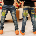 Boys Jeans Real Patchwork Mid 2016 New Children's Clothing Spring And Autumn Winter Influx Of Big Boy Pants Children Jeans B088
