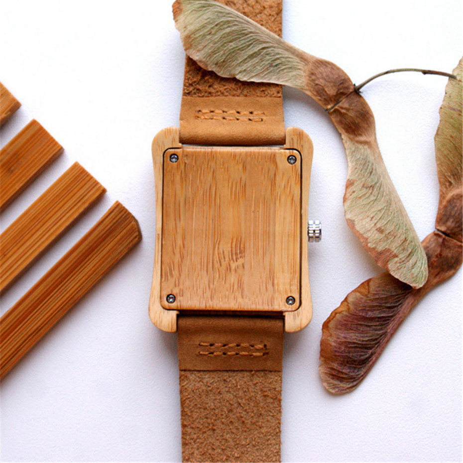 genuine leather band nature wood watch09