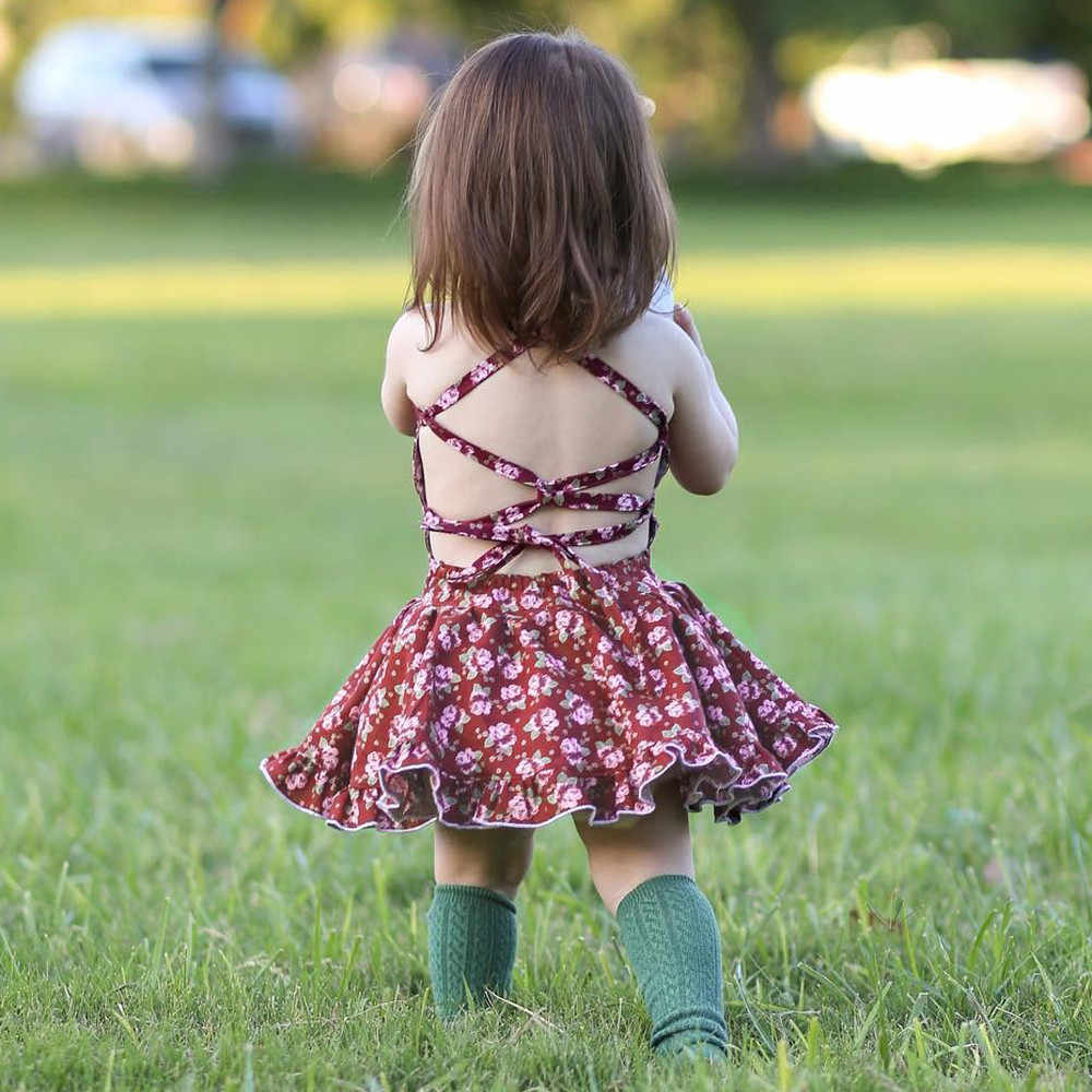 Bayi Gadis Gaun Musim Panas Gaun Gadis Putri Bayi Balita Pakaian Pesta Pernikahan Ulang Tahun Gaun Cetak Pakaian Vestidos Bebes L4