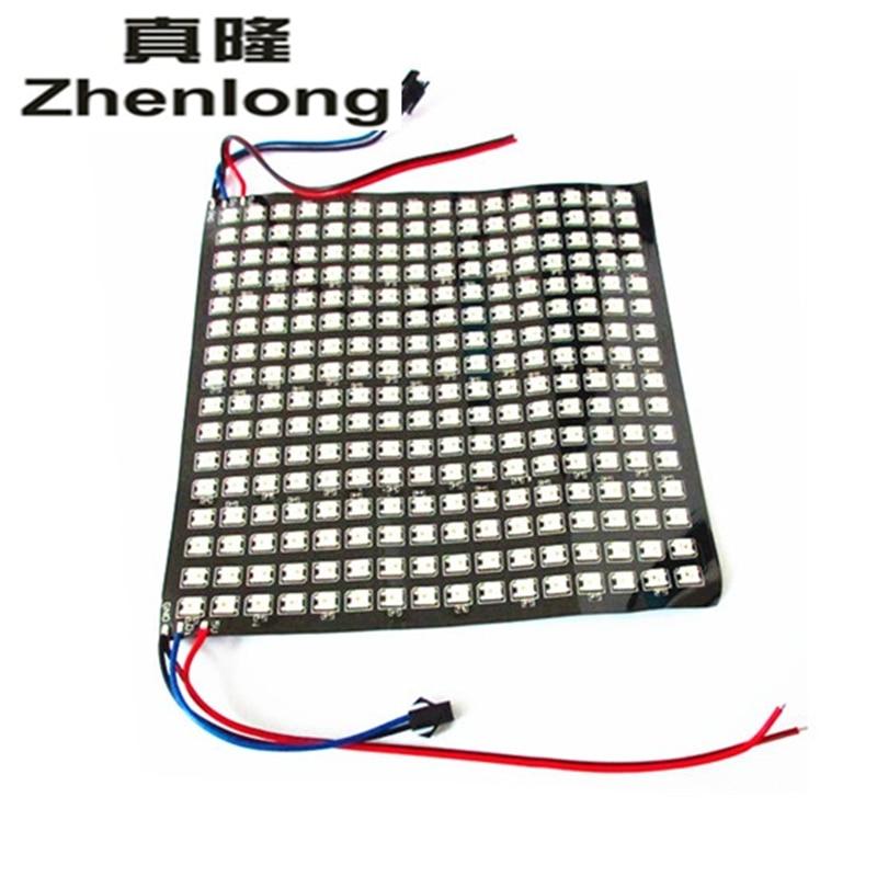 10pcs/lot DC5V 8*32 Full color WS2812B WS2812 5050 RGB SMD Flexible LED Pixel Panel Light matek 8 bit ws2812b rgb 5050 highlight led for naze32 cc3d