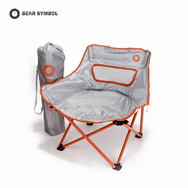 fishing chairs reclining chair covers bear symbol 2018new outdoor small and portable folding bearing weight 100kg excellent workmanship shipping