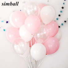 30Pcs/lot 2.3g pink clear white 2.8g transparent balloons latex helium float birthday party baby shower wedding decoration balls(China)