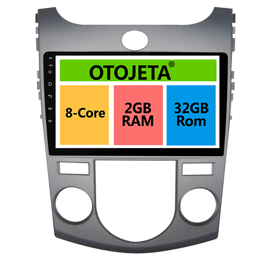 otojeta big screen hd car DVD player radio headunit tape recorder for KIA FORTE CERATO 2008-2011 android 8.1 multimedia stereo