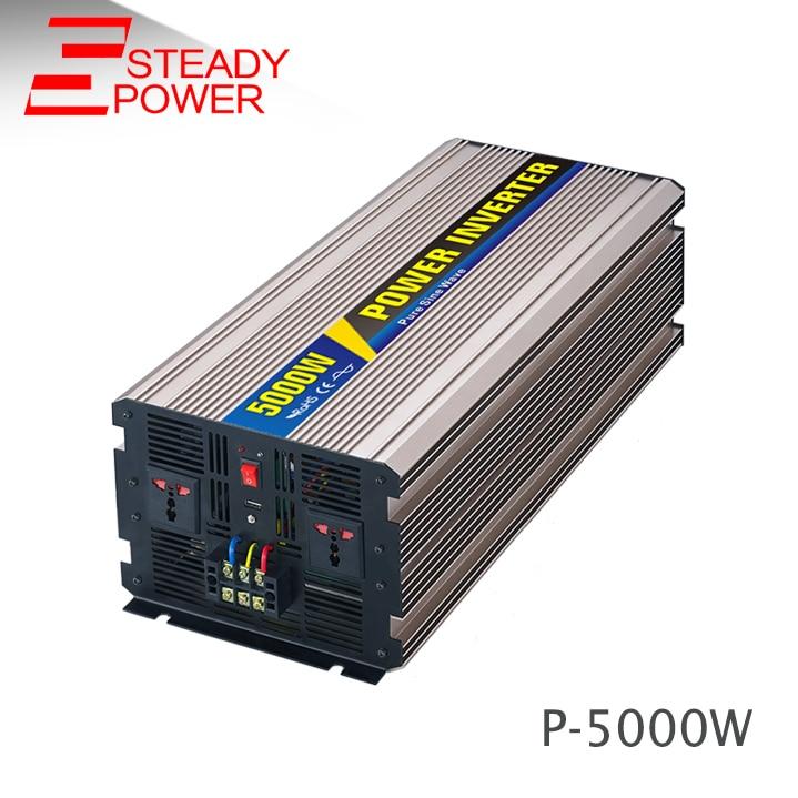 цена на Hot sell 5kw car power inverter dc 12v 24v ac 220v circuit 5000w pure sine wave inverter for solar power system