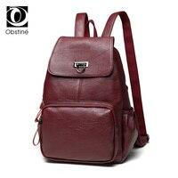 Fashion Korean Pu Backpack Student School Bag Backpack For Women Girl Rucksack Mochila Escolar Women Backpack