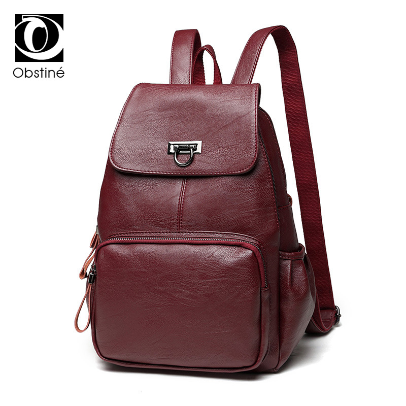 Sheepskin Back Pack Designer Bag Real Genuine Leather Backpack Women Backpacks for Girls Large Red Backpack Female Bagpack Woman