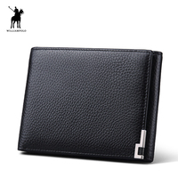 WilliamPOLO England Style High Quality Brand Mens Wallet Leather Designer Wallet Mens Bifold Genuine Leather Wallet #137