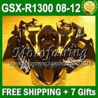 7 подарки + новый для SUZUKI Hayabusa GSXR1300 все черный 08 09 10 11 12 08 GSX R1300 глянцевый черный GSXR 1300 1389 GSX R1300 ABS обтекатели