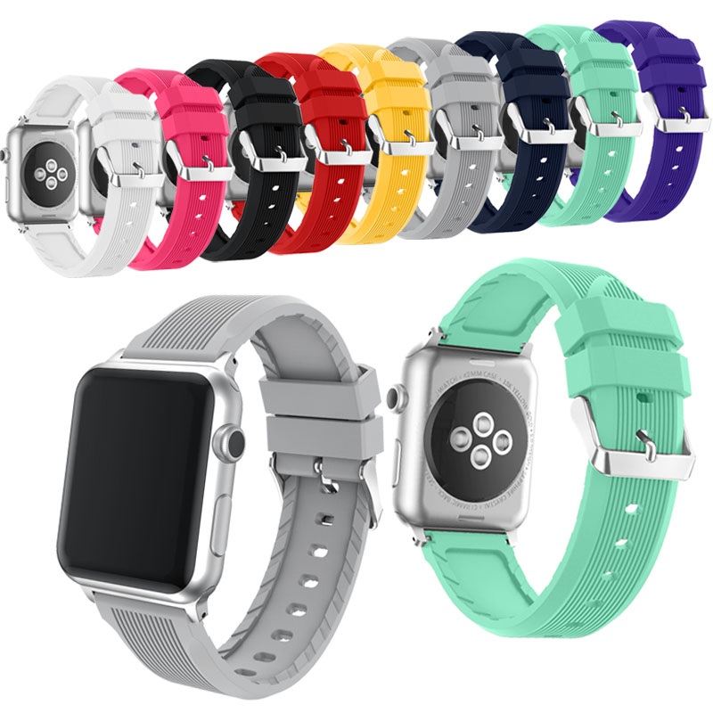 Silicone Sports band strap for Apple Watch Series 1 and Series 3/2/1 Band 38mm 42mm for Apple  Sport smart watch band оружие игрушечное яигрушка яигрушка колчан
