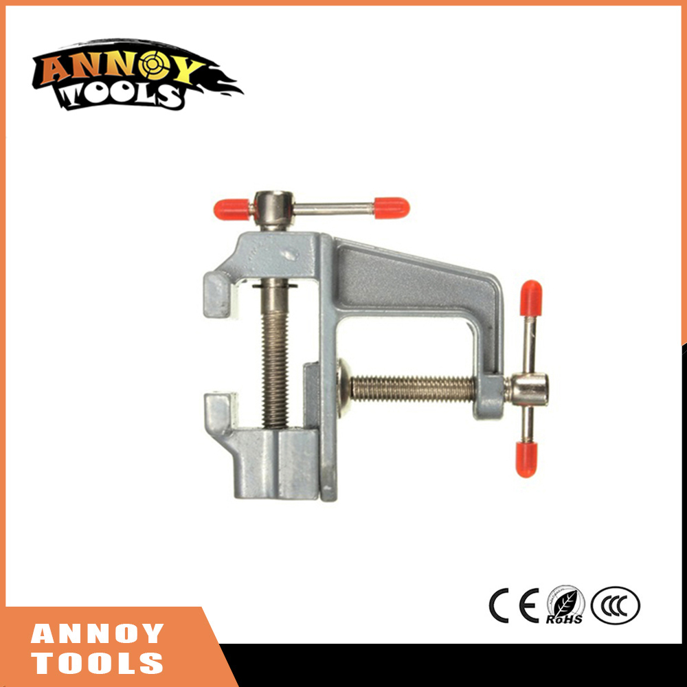 High Quality 3.5 Mini Aluminum Small Jewelers Hobby Clamp on Table Bench Vise Tool Vice