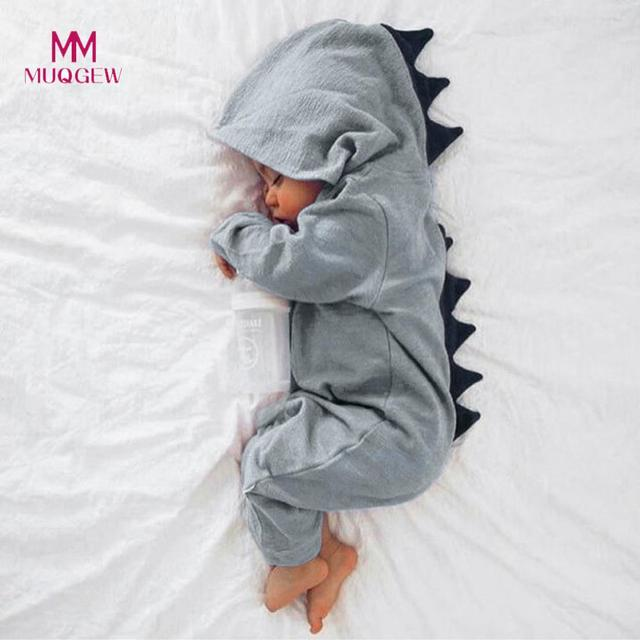 82fd9d8b0 Kids Clothes Newborn Infant Baby Boy Girl Dinosaur Hooded Romper ...
