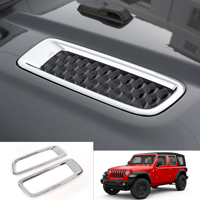 Car Styling Accessories Front Bonnet Hood Air Vent Cover Trim Decoration ABS 2pcs For Jeep Wrangler JL 2018 2019-in Interior Mouldings from Automobiles & Motorcycles on AliExpress - 11.11_Double 11_Singles' Day 1
