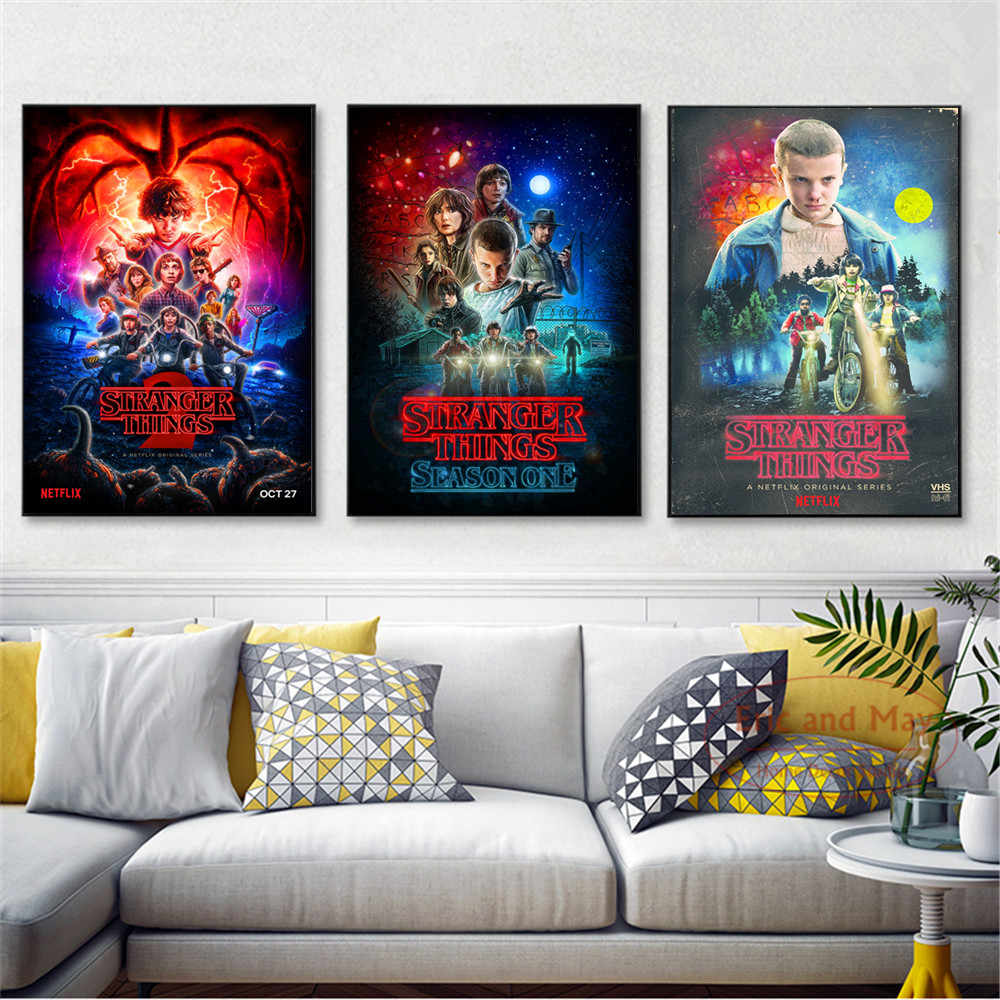 Stranger Things Movie Modern Posters And Prints Wall Art Canvas Painting For Living Room Decoration Home Decor Unframed Quadro