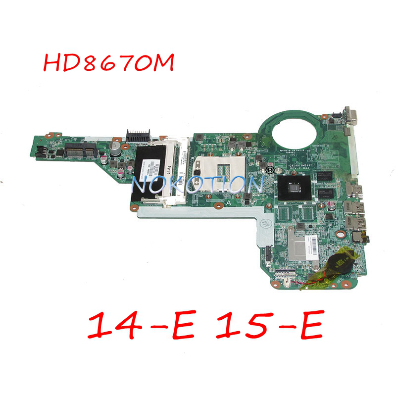 NOKOTION 713256 001 713256 501 DA0R63MB6F1 материнская плата для ноутбука hp Pavilion 14 E 15 E DDR3L HD8670M основной плате полный работает