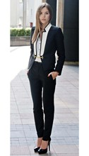 Office Lady Business Suits Female Two Piece Sets Femme Long Sleeve Jacket and Trouser suits custom made