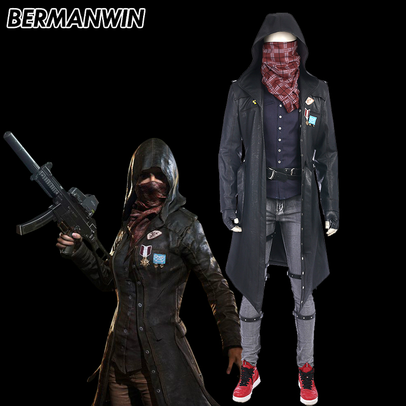 BERMANWIN High Quality Game PLAYERUNKNOWN'S BATTLEGROUNDS Costume PUBG Cosplay Costume Halloween Cosplay Costume for adult men