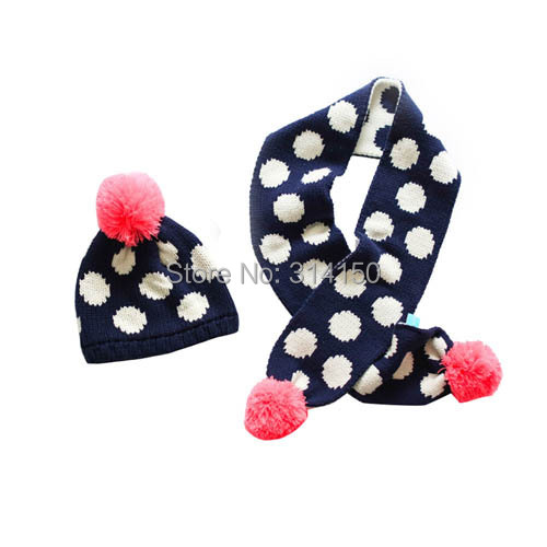 Tou Baby Girls Winter Hats Toddler Dot Ear Protection Cap+Gloves Baby Caps  Children Fashion Knitted cap Beanie Hat free shipping-in Hats   Caps from  Mother ... 0302fc2c87e