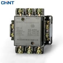 лучшая цена CHINT Motor Control Communication Contactor CJT1-40 36V 110V 127V 220V 380V CDC10-40 AC contactor