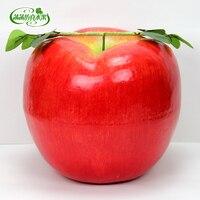 סופר גדול אדום לתפוחים מזויף קצף פירות דגם גדול אבזרי קישוט גדול