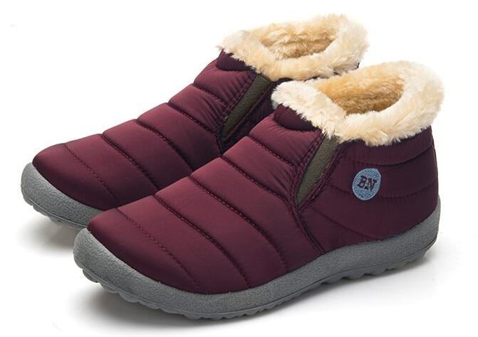 cor sólida botas de algodão dentro de