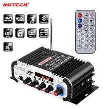 NKTECH – lecteur Audio numérique pour voiture, Bluetooth, amplificateur de puissance, 2ch x 20W, Hi Fi, stéréo, basse, avec micro, réverbération karaoké